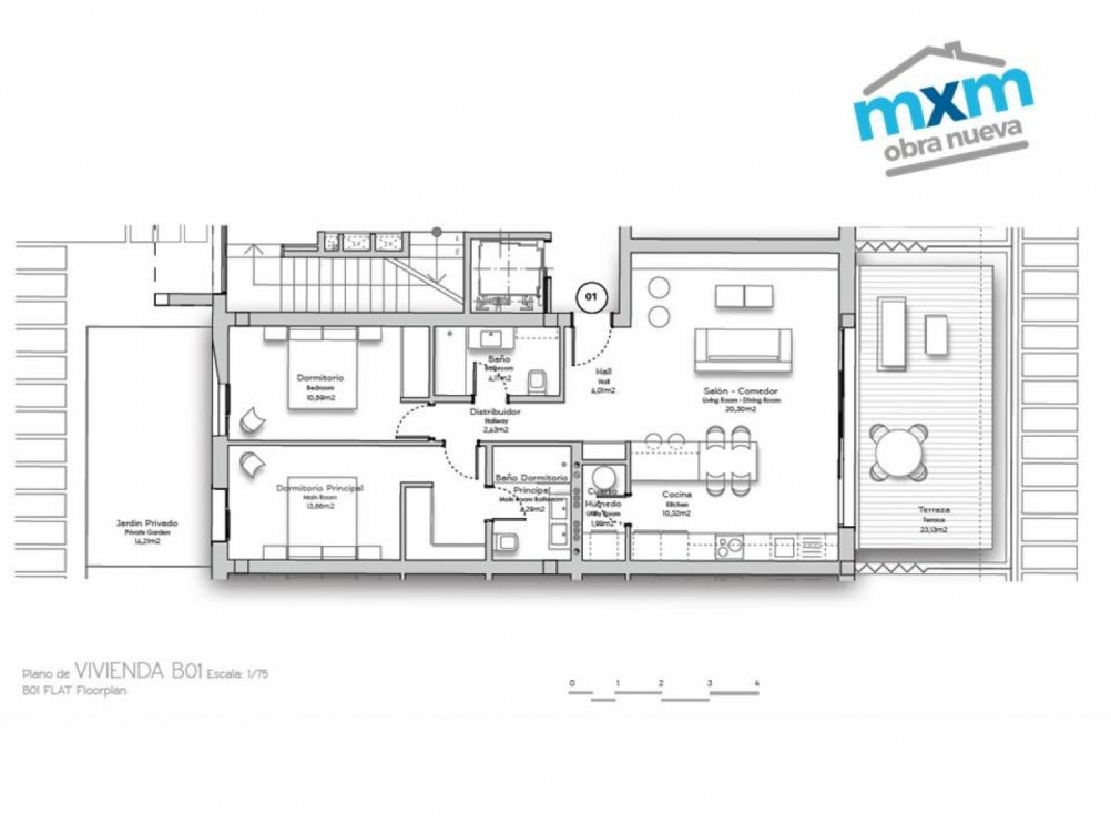 Apartments with sea views in Torrox Costa in Torrox