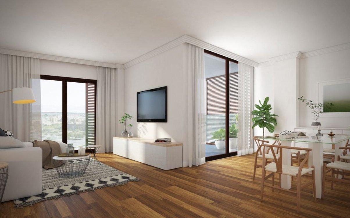 Apartamentos sobre plano en Teatinos en Málaga