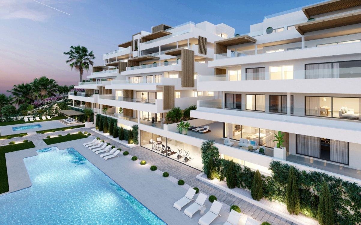 Apartments with sea views in Estepona in Estepona