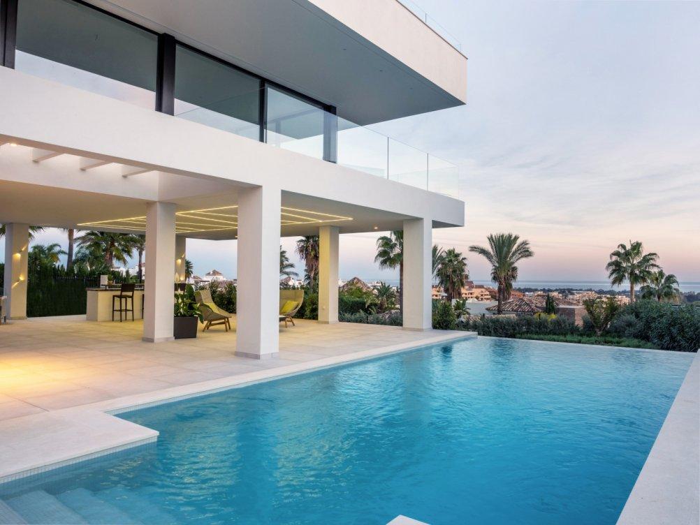 Villas con vistas al mar en La Alquería en Benahavís